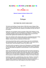 Flying Serpents and Dragons The Story of Mankind's Reptilian Past by R.A. Boulay